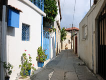 Typical street in Cyprus village Stock Photo