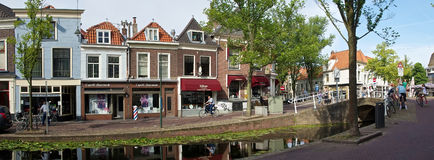 Typical street in Delft Royalty Free Stock Photo
