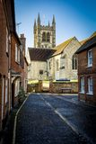Typical street in Farnham Surrey in south of England stock images