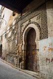 Typical street of Fez El Bali Medina. Fez, Morocco. Stock Image