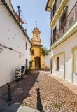 Typical street in Granada. Andalusia, Spain royalty free stock images