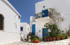 Typical street in Greece Royalty Free Stock Photos