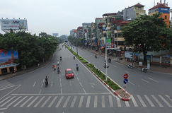 Typical street of Hanoi Royalty Free Stock Photography