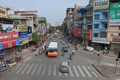 Typical street of Hanoi Royalty Free Stock Photo