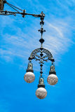 Typical street lamp in Barcelona Stock Photo