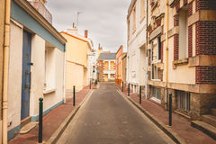 Typical street of Les Sables d Olonne, in France royalty free stock photo