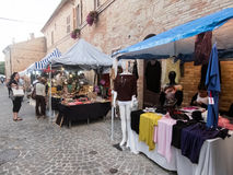 Typical street market in Italy Stock Image