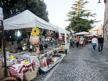 Typical street market in Italy Stock Photos