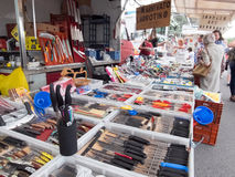 Typical street market in Italy Stock Photography