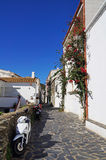 Typical street in the Mediterranean village of Cadaques royalty free stock photos