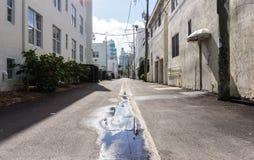 Typical street of Miami Royalty Free Stock Photos