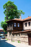 A typical street of the old city of Bulgaria. Street rigorously city in the summer heat. Neebr. Bulgaria Stock Image