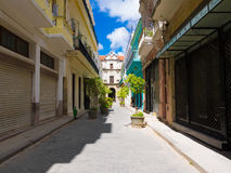 Typical street in Old Havana Royalty Free Stock Photography