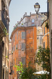 Typical street with old historical buildings in rome. Italy Stock Image