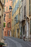 Typical Street in the Old Menton Royalty Free Stock Photography