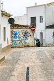 Typical street in old town of Lagos, Portugal Stock Photography