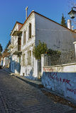 Typical street in old town of Xanthi,  Greece Stock Image