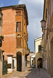 Typical street in Padua, Italy Royalty Free Stock Photos