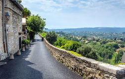 Typical street with panoramic view in Saint Paul de V Stock Photo