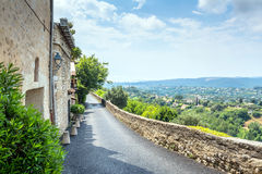 Typical street with panoramic view in Saint Paul de V Royalty Free Stock Image