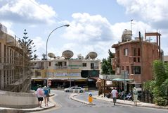 Typical street in  Paphos Stock Image