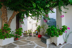Typical street in Paros Royalty Free Stock Images