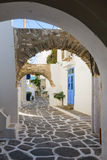 Typical street in Paros Stock Photo