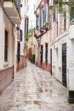 Typical Street in Santa Cruz Neighborhood; Seville Stock Photography