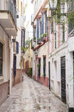 Typical Street in Santa Cruz Neighborhood; Seville Royalty Free Stock Image