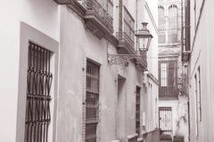 Typical Street in Santa Cruz Neighborhood; Seville Stock Photo