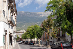 Typical Street Scene, Abruzzo, Italy Royalty Free Stock Photography