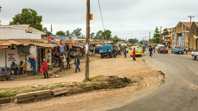 Typical street scene in Arusha, Tanzania Royalty Free Stock Image