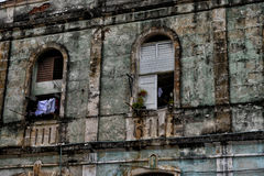 Typical street scene in Havana, Cuba Royalty Free Stock Images