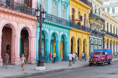 Typical street scene in Old Havana Royalty Free Stock Image