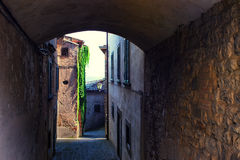 Typical street of a small town in Tuscany Stock Photography