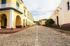 A typical street in Trinidad Cuba Royalty Free Stock Images