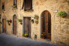 Typical street in Tuscany, Italy Stock Photography