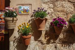 Typical street in Valldemosa stock photography