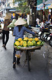Typical Street Vendor in Hanoi Stock Images