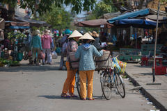 Typical street vendor in Hoi An, Vietnam Royalty Free Stock Photo