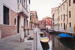 Typical street of Venice. Stock Photos