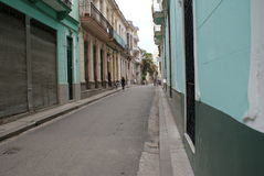 Typical street view in Havana Royalty Free Stock Photography