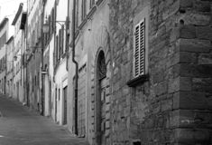 Typical street view in the historic center of Arezzo, Tuscany, Italy royalty free stock photography