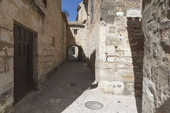 Typical Street of the world heritage city in Baeza Royalty Free Stock Photos