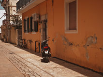 A typical street in Zante Town Royalty Free Stock Photo