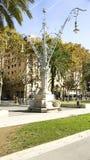 Typical streetligh. T Arc de Triomphe of Barcelona Royalty Free Stock Photos