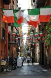 Typical streets in Naples on a summer day  , Italy Stock Photography