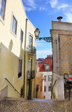 The typical streets of old Lisbon Stock Images