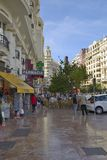 Typical streets of Valencia Stock Image