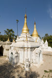 Typical stupa in myanmar. This is a typical stupa in myanmar, located in southern mandalay. Pagodas are present everywhere; in cities and towns, villages Stock Images